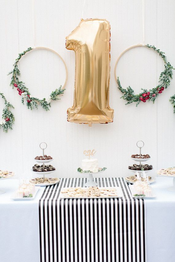 Classy Christmas Party Ideas Part - 21: Floral 1st Birthday Party Ideas