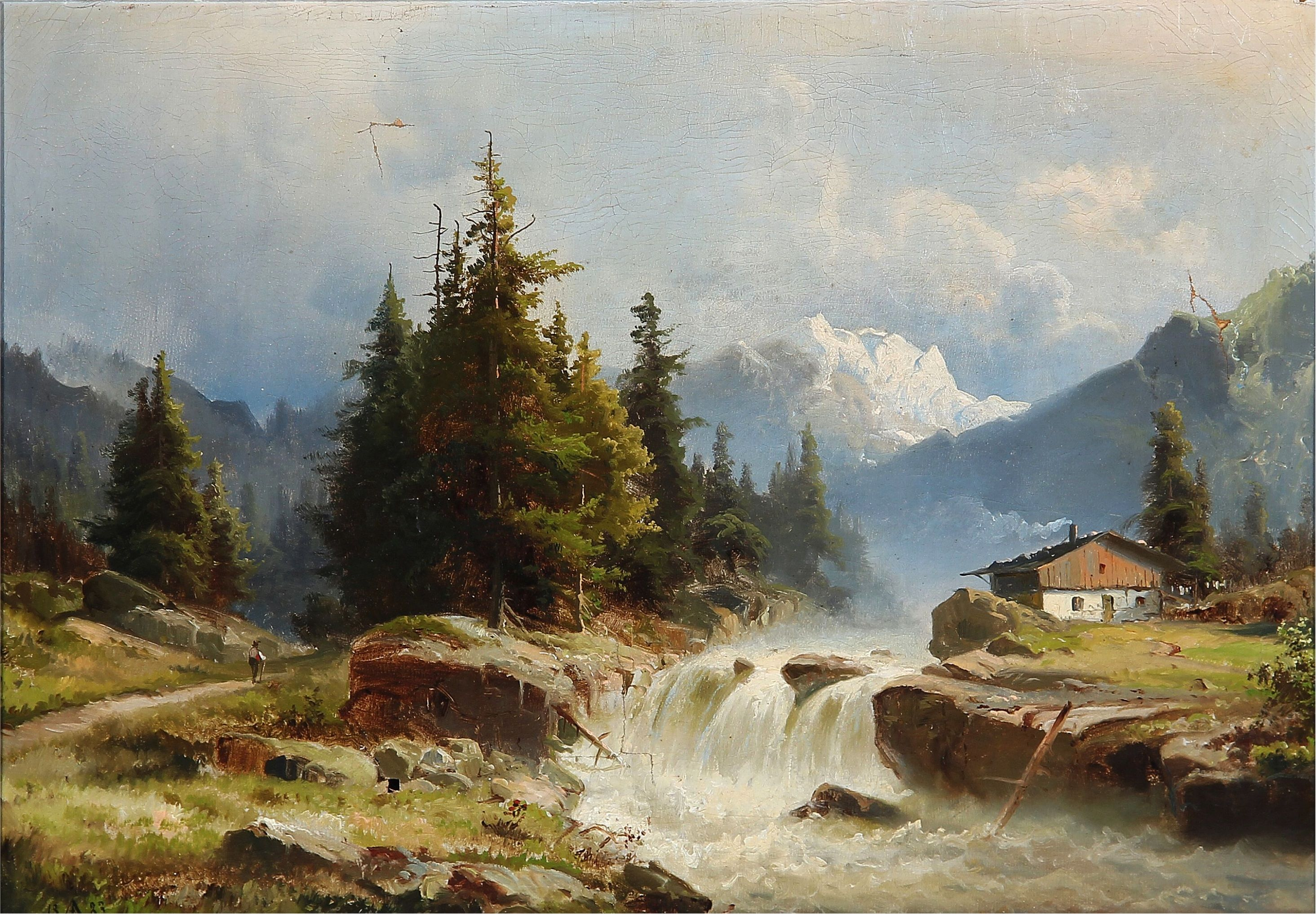Pin by Agnes Varga on Painting   Mountain landscape