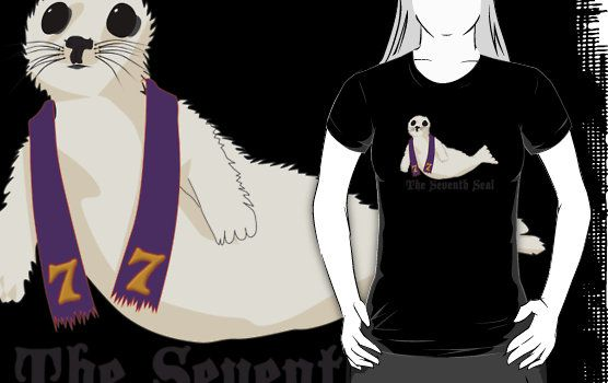 The Seventh Seal  http://www.redbubble.com/people/xaphod/works/9435194-the-seventh-seal