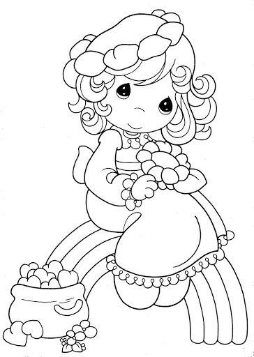 Pinto Dibujos: Niña en arcoiris para colorear de los precious ...