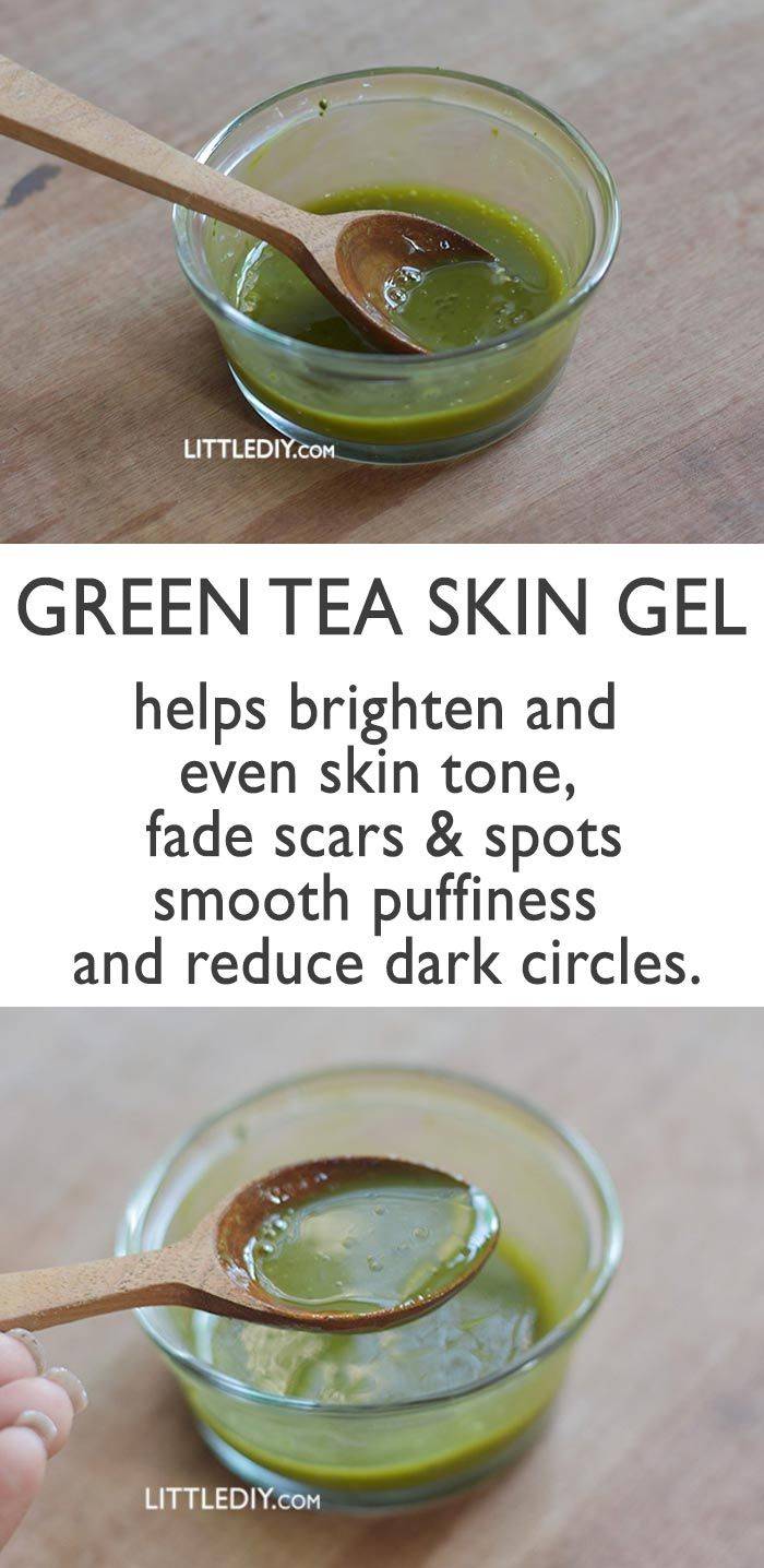 GREEN TEA SKIN GEL helps brighten and even skin tone. #healthyskin