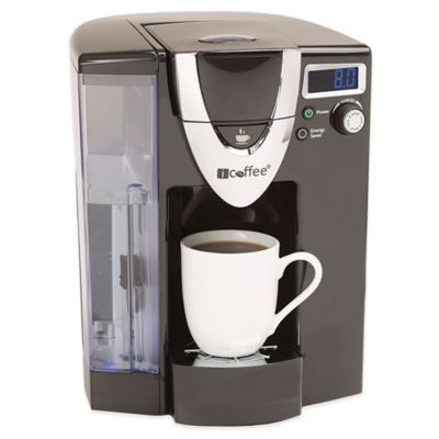 "iCoffee® Opus Single Serve Brewer - We're so getting this - ""This coffee maker features SpinBrew™ technology that steams and stirs your coffee to eliminate acidity and any bitter aftertaste."""