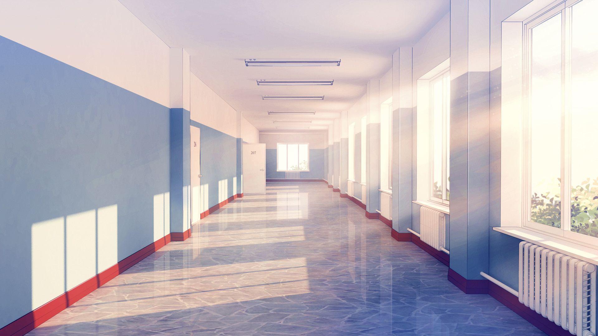 School hallway, ~ RaseL