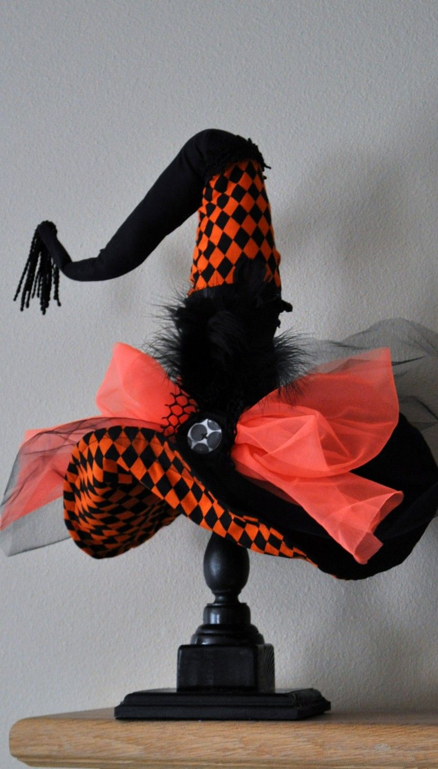 Witch Hat - Halloween Witch Hat - Diva Witch Hat Decor - Halloween - Witch Decorations For Halloween