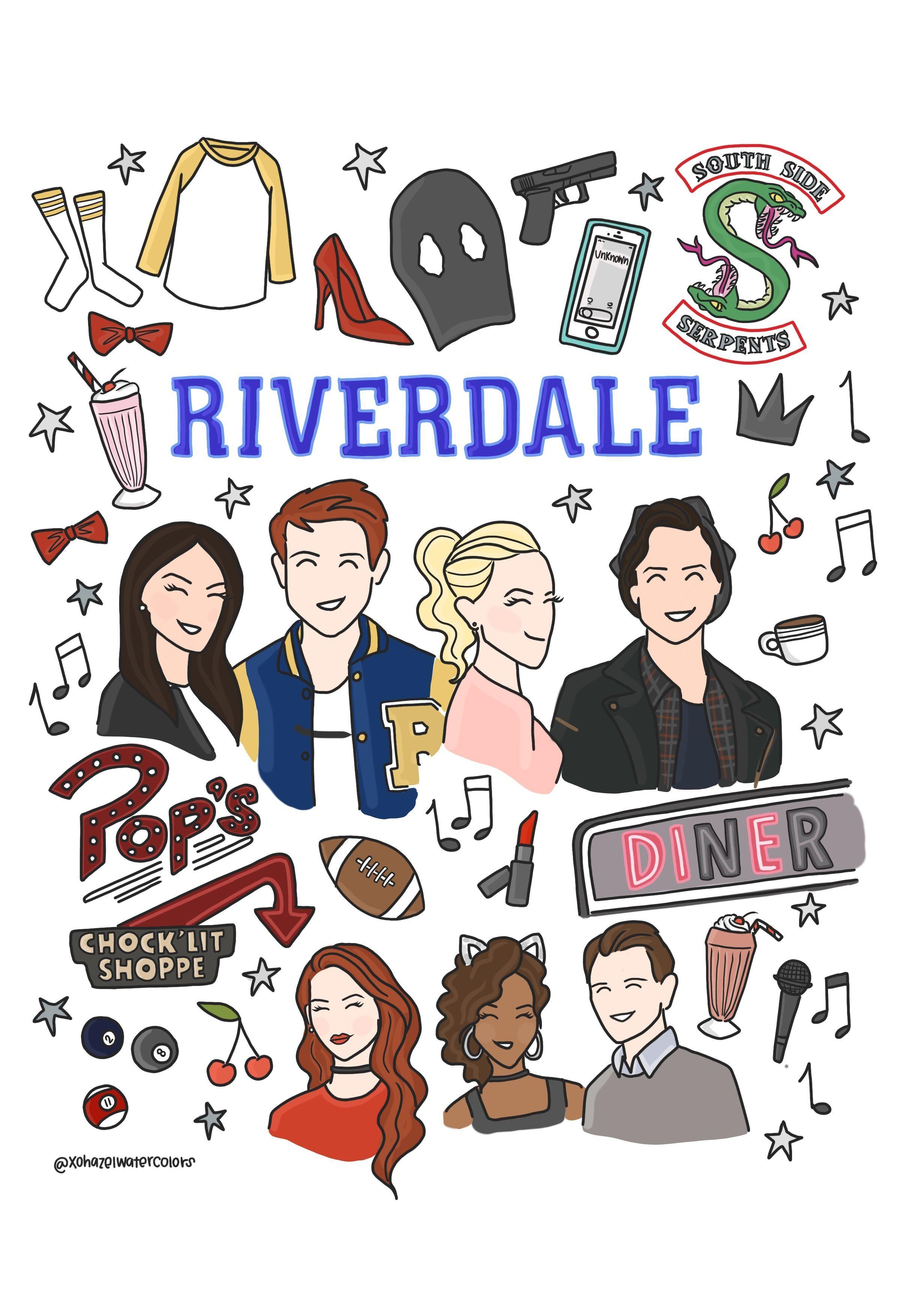 Resultat De Recherche D Images Pour Riverdale Drawings Easy Memes De Riverdale Wallpapers De Filmes Netflix Filmes E Series