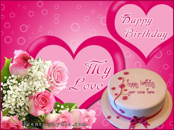 birthdaygreetingforwifejpg 600 450 – Birthday Greetings for Wife