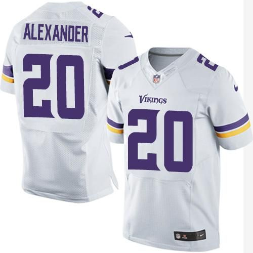 Nike Vikings  20 Mackensie Alexander White Men s Stitched NFL Elite Jersey  And  nfl jersey online india 642d8c289