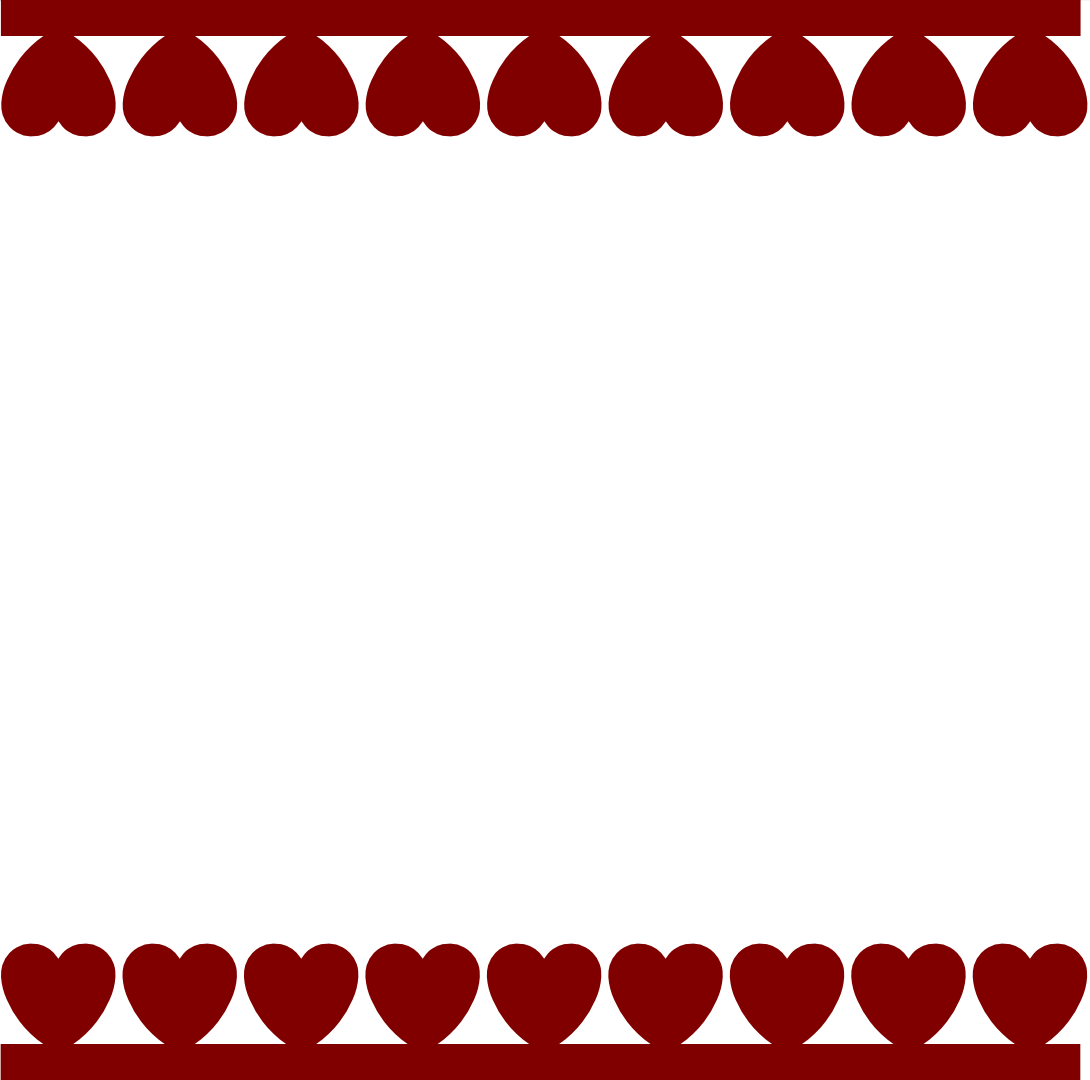 Hearts Border Svg Valentines Day Wallpapers Heart Border