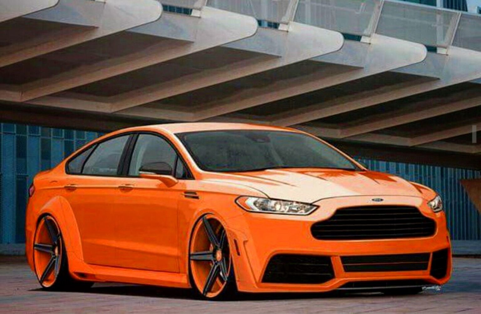 Orange Crush Ford Fusion Custom Ford Fusion Ford Mondeo