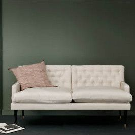 Jason Wu at Canvas - Down and feather seat cushions. Lightly tufted back cushions. Upholstered in Canvas' own hand dyed linen. Available in vanilla (off white) or midnight (charcoal grey).