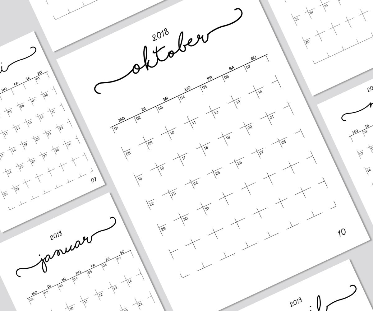 Kalendereinlagen 1 Monat/1 Seite passenden für den Filofax A5 ...