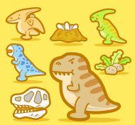 Cartoon Baby Dinosaur set