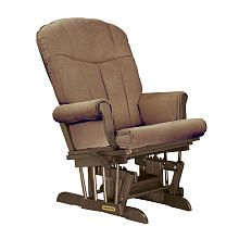 Shermag Deluxe Glider - Tea Finish with Coffee Fabric