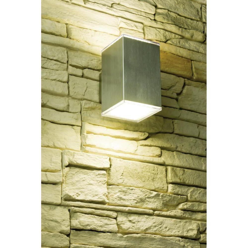 Köp LED-exteriör-väggbelysning Heitronic Kubus (36007) 7.2 W Varmvit Rostfritt stål hos - Conrad.se Väggbelysning - LED