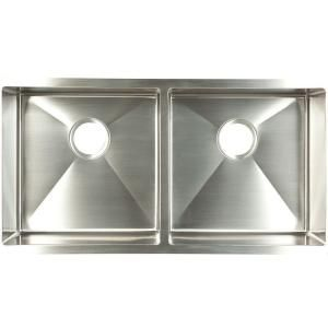 Kindred Undermount Stainless Steel 35 In 0 Hole Double Bowl