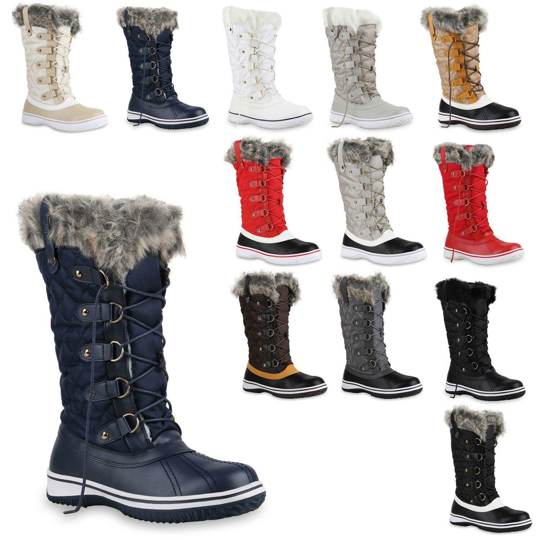 Warm Gefütterte Damen Stiefel Winterstiefel Snow Boots
