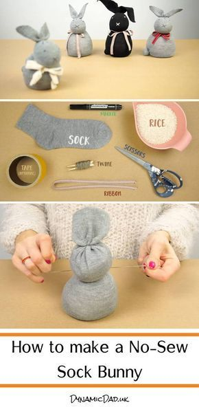 Photo of How to make a no sew sock bunny