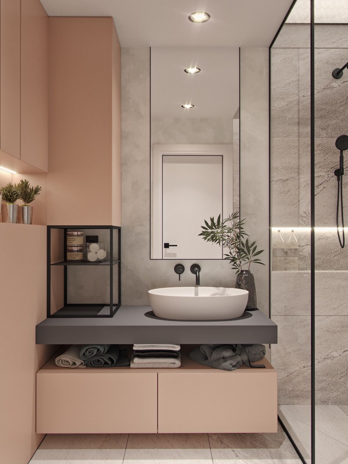 40 Modern Bathroom Vanities That Overflow With Style #bathroomideas