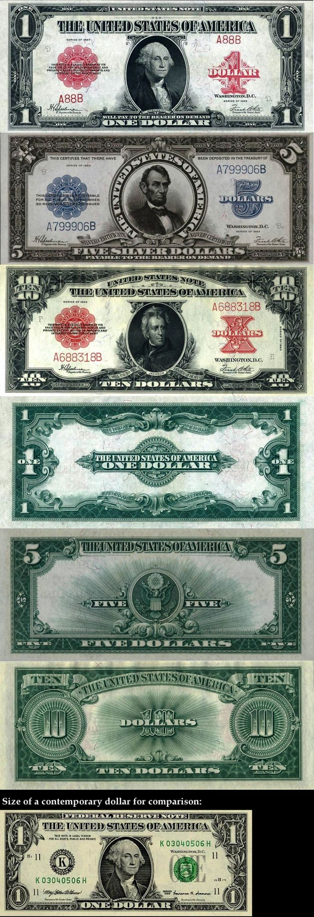 A Fascinating Look At American Currency In 1923.    They say old money is the best kind of money so I guess it really is true after all    :-)