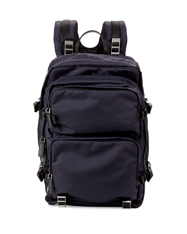 Prada Multi-Pocket Nylon Backpack 1719bca871602