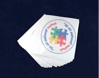 Autism Awareness Car Window Decals. These transparent window decals stick on the inside of your car window. Packaged 25 decals per pack. Product Code: DECAL-2