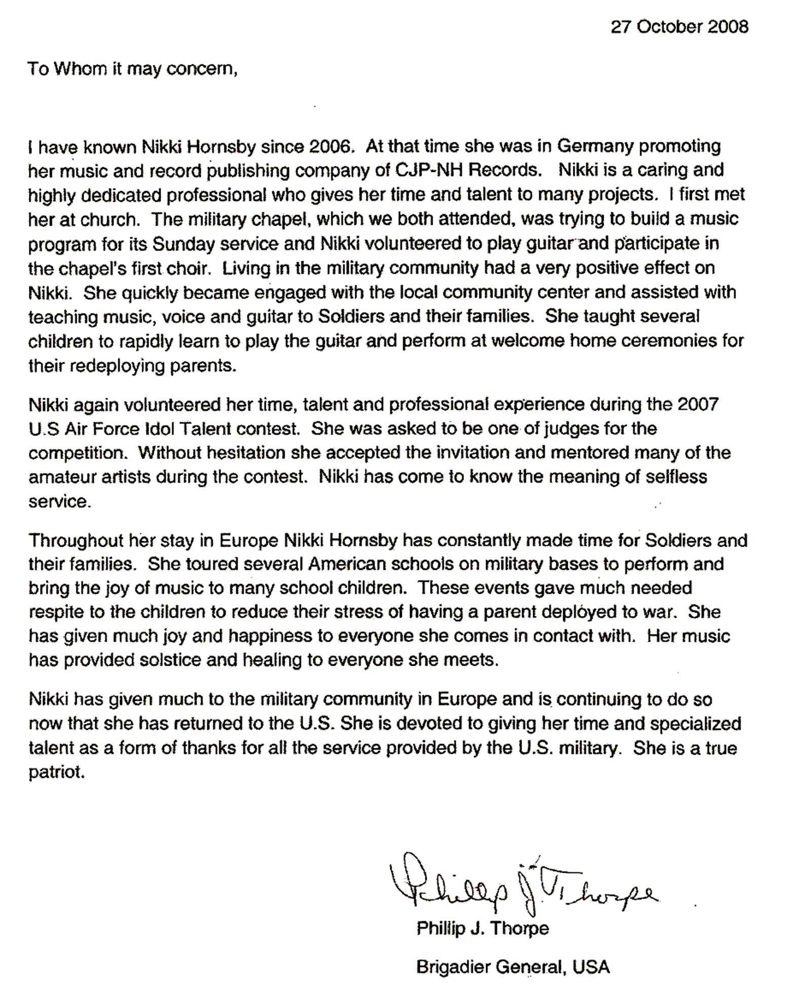 Military Letter Of Recommendation Writing Service