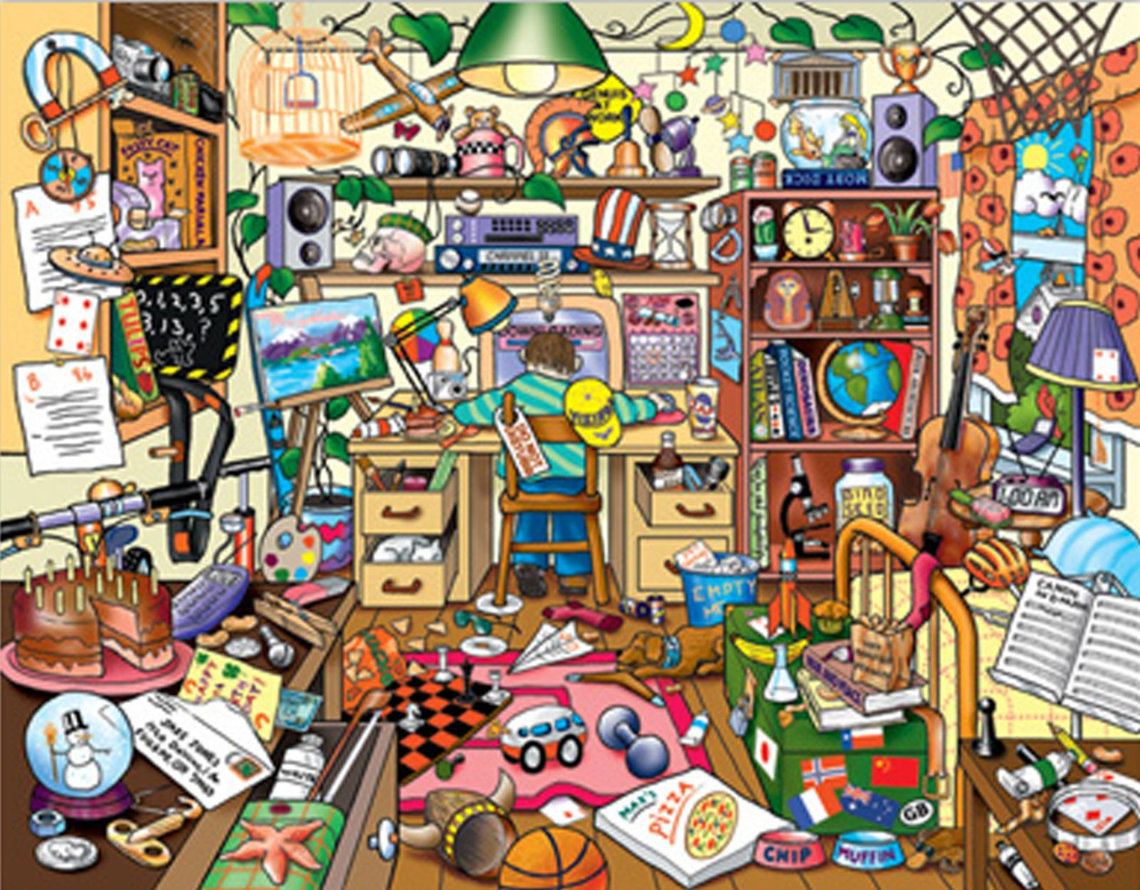 Messy Living Room Clipart
