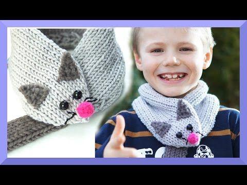schal für kinder stricken - maus schal - einfach für anfänger, Hause ideen