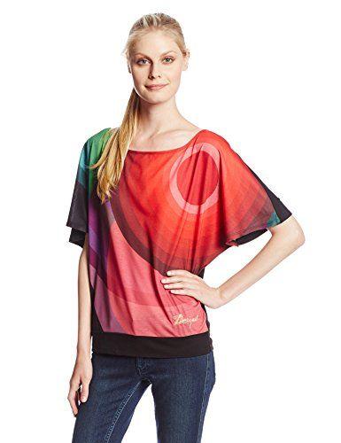 Desigual Andaymanda - Camiseta de manga corta para mujer, talla 38, color negro #camiseta #realidadaumentada #ideas #regalo