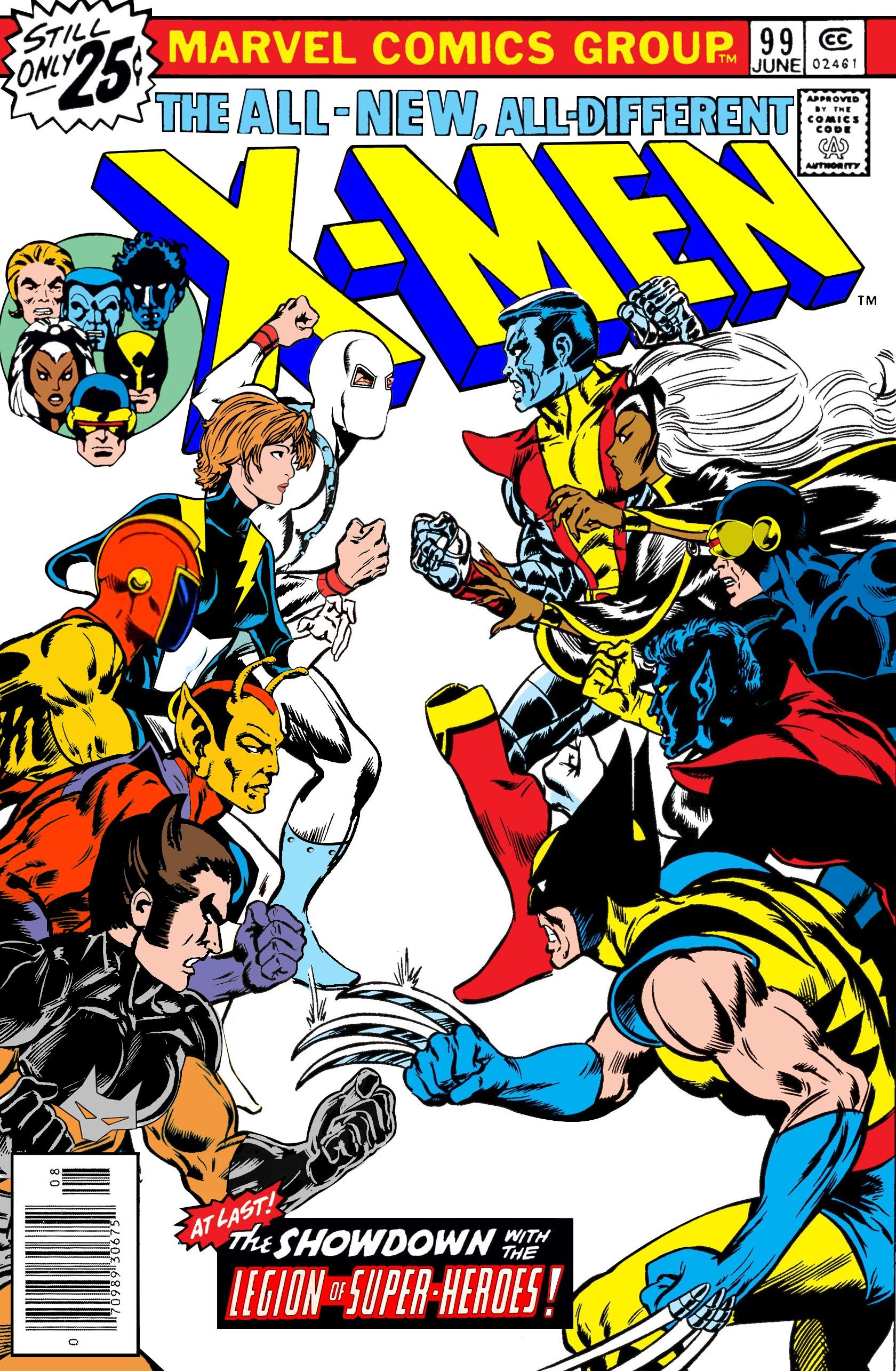 X Men Vs The Legion Of Super Heroes At Last Homage To X Men 99 Last Panel Created By Sasq Captain America Comic Books Comic Books Art Captain America Comic