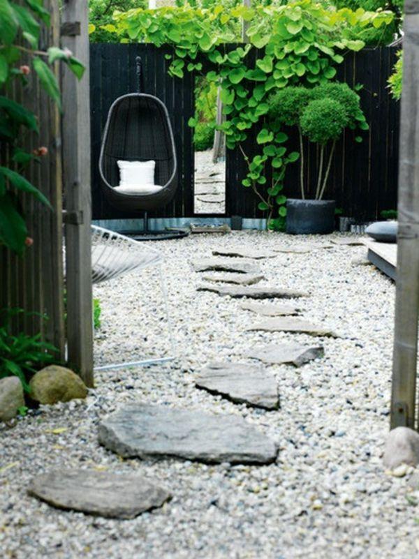 Vorgarten mit Kies gestalten - Bilder und Tipps für Sie Garten - garten selbst gestalten tipps