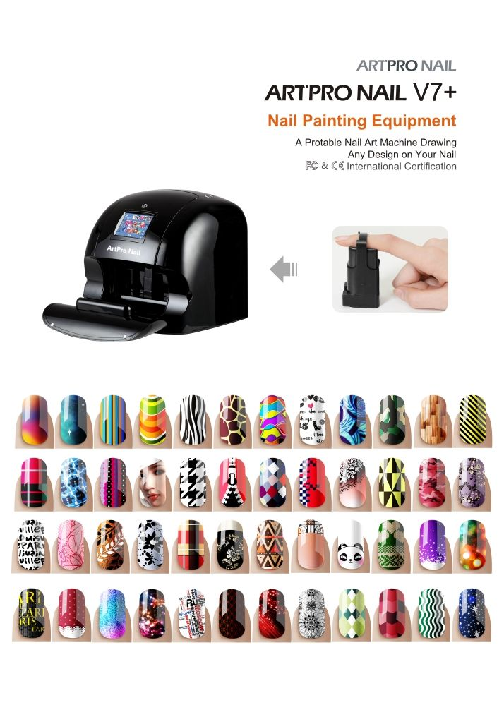Nail Art can be as easy as A,B,C with Art Pro Nail Printer ...