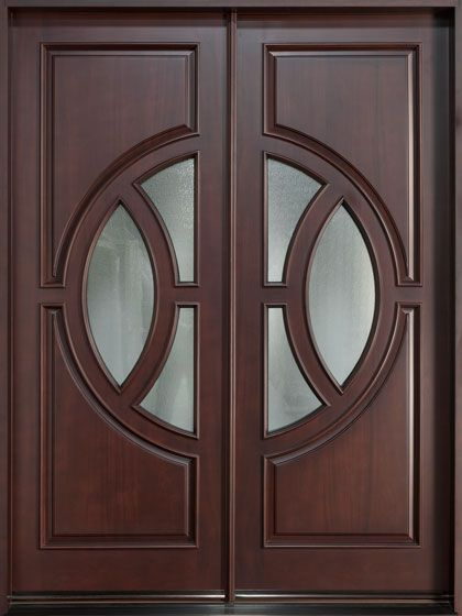 Mahogany solid wood front entry door double cac loai for Double door for house