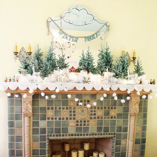 Tree Of Life Fireplace Surround: Gorgeous Real-Life Christmas Mantel Ideas