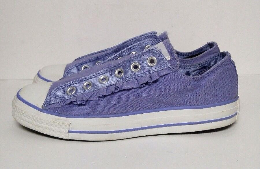 Converse Chuck Taylor All Star Purple Ruffle Shoes Sneakers
