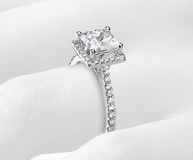 Build Your Own Ring Setting Details In 2021 Princess Engagement Ring Floating Halo Engagement Ring Diamond Engagement Rings