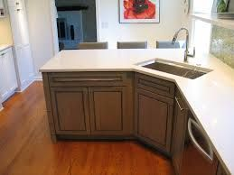 Corner Sink With Island In Small Kitchen Corner Sink Kitchen Kitchen Layout Kitchen Remodel Small