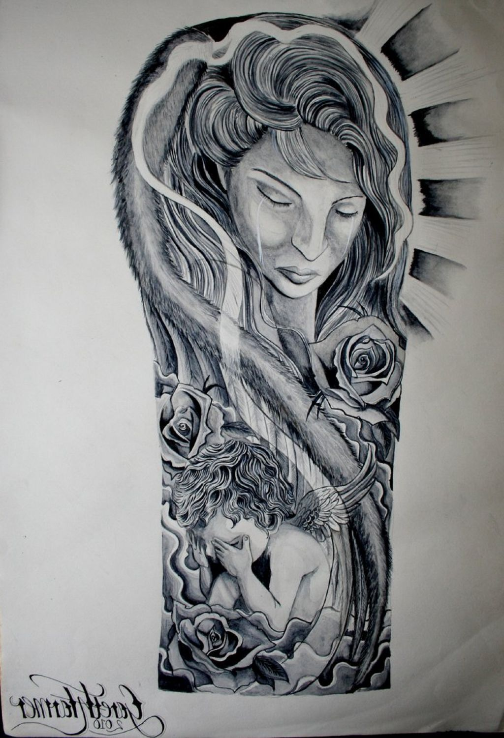 religious sleeve tattoo drawings