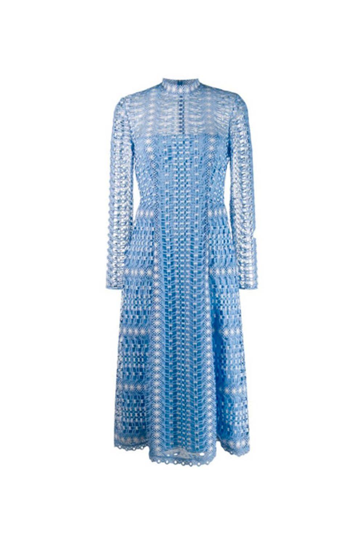 Das Spitzenkleid in zartem Himmelblau von Temperley London ...