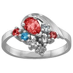 3-9 Stones Swan Ring #jewlr
