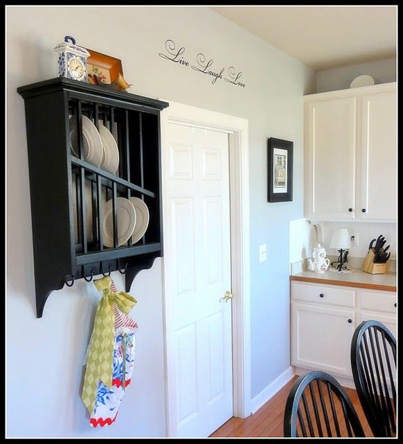 Empty Kitchen Cupboard: Gray Walls: Silver Sateen By Behr Cabinet Color: Bleached