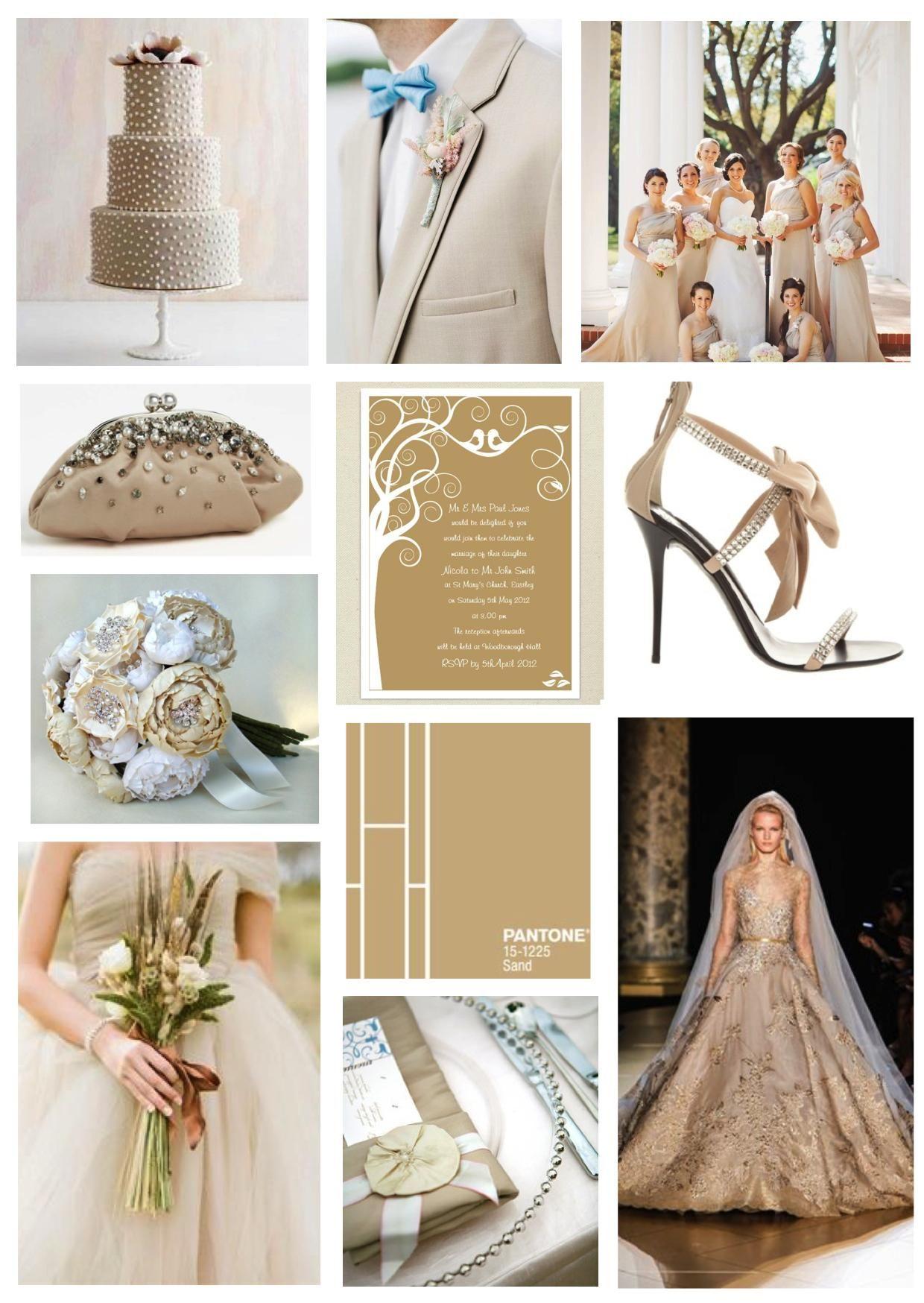 Pantone Sand Beige Wedding Ideas Dress Pinterest Beige