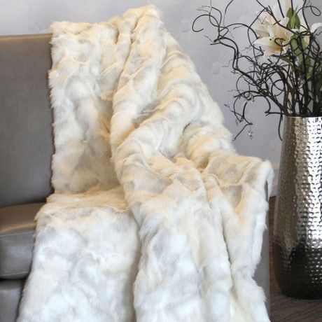 Limited Edition Faux Fur Throw // Snow Bunny