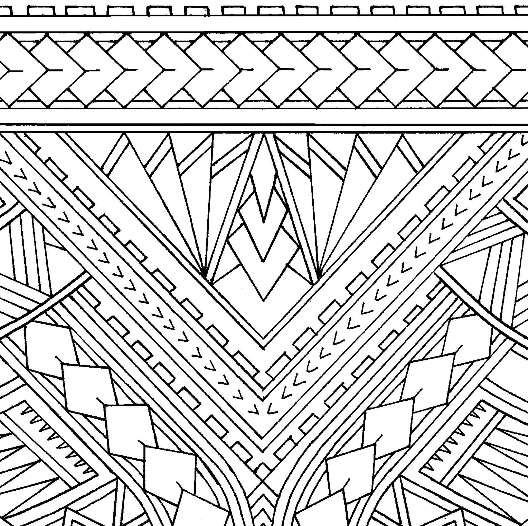 Wrap Around Arm Polynesian Tattoo Design And Stencil Instant