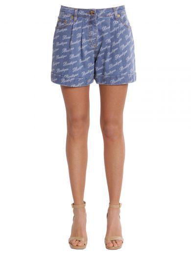 97f22e88c8d BOUTIQUE MOSCHINO Denim Stretch Shorts.  boutiquemoschino  cloth   pants-shorts
