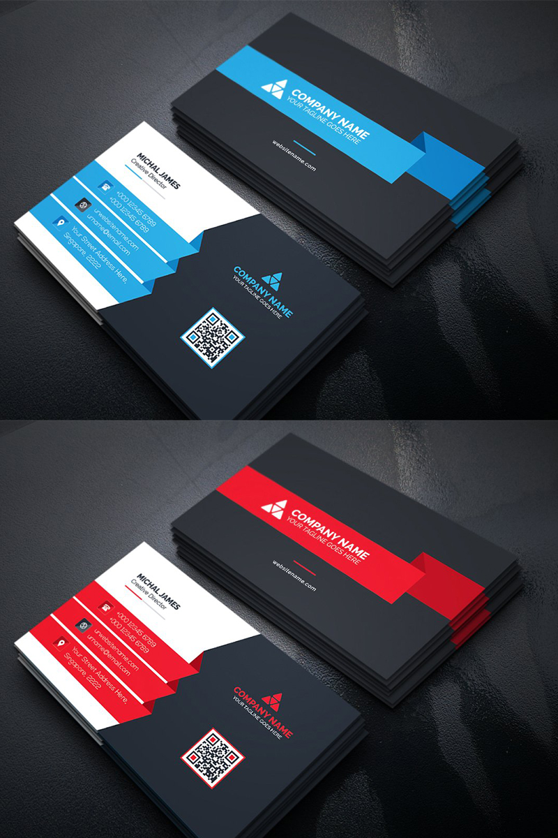 Modern Business Card Corporate Identity Template Modern Business Cards Business Cards Corporate Identity Business Card Design Minimalist