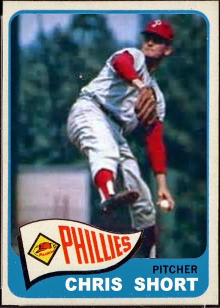 1965 1966 topps chris short philadelphia phillies