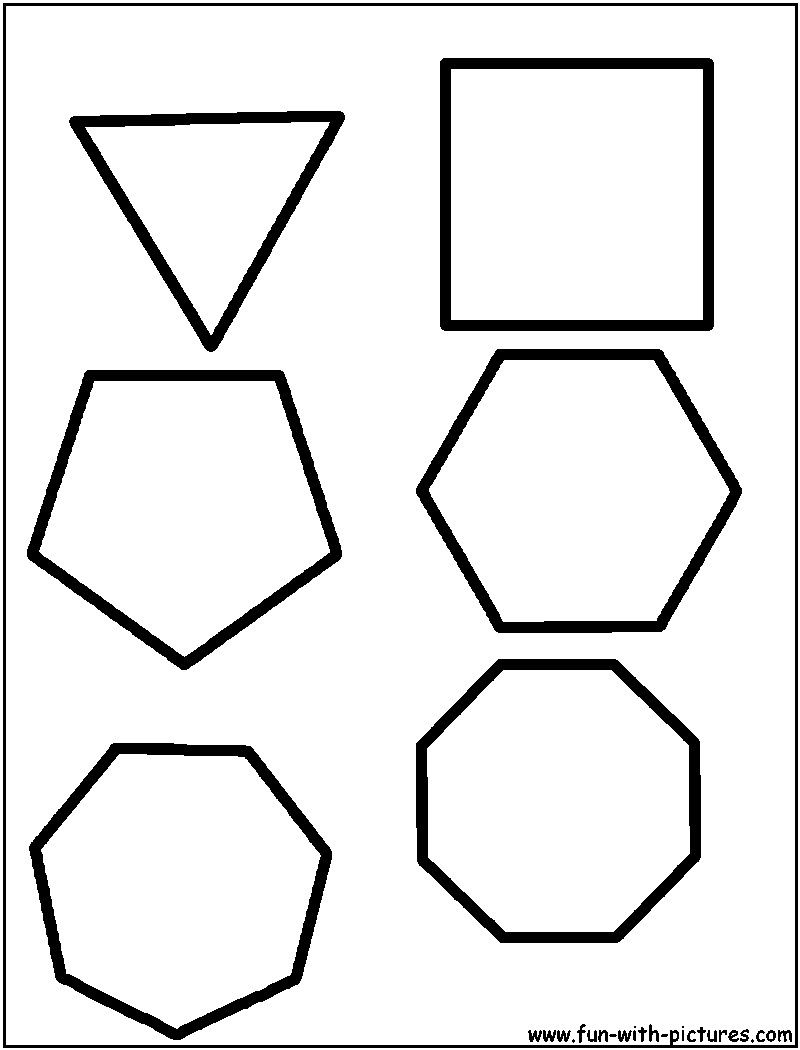 regular polygons coloring page inspiring pinterest regular