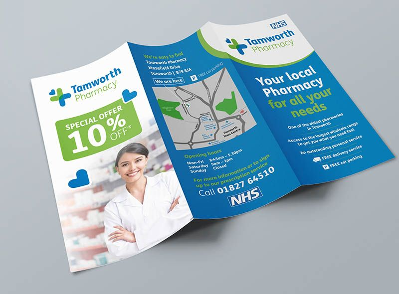 Pharmacy Leaflet Design Health Nhs Flyer Printing With Images