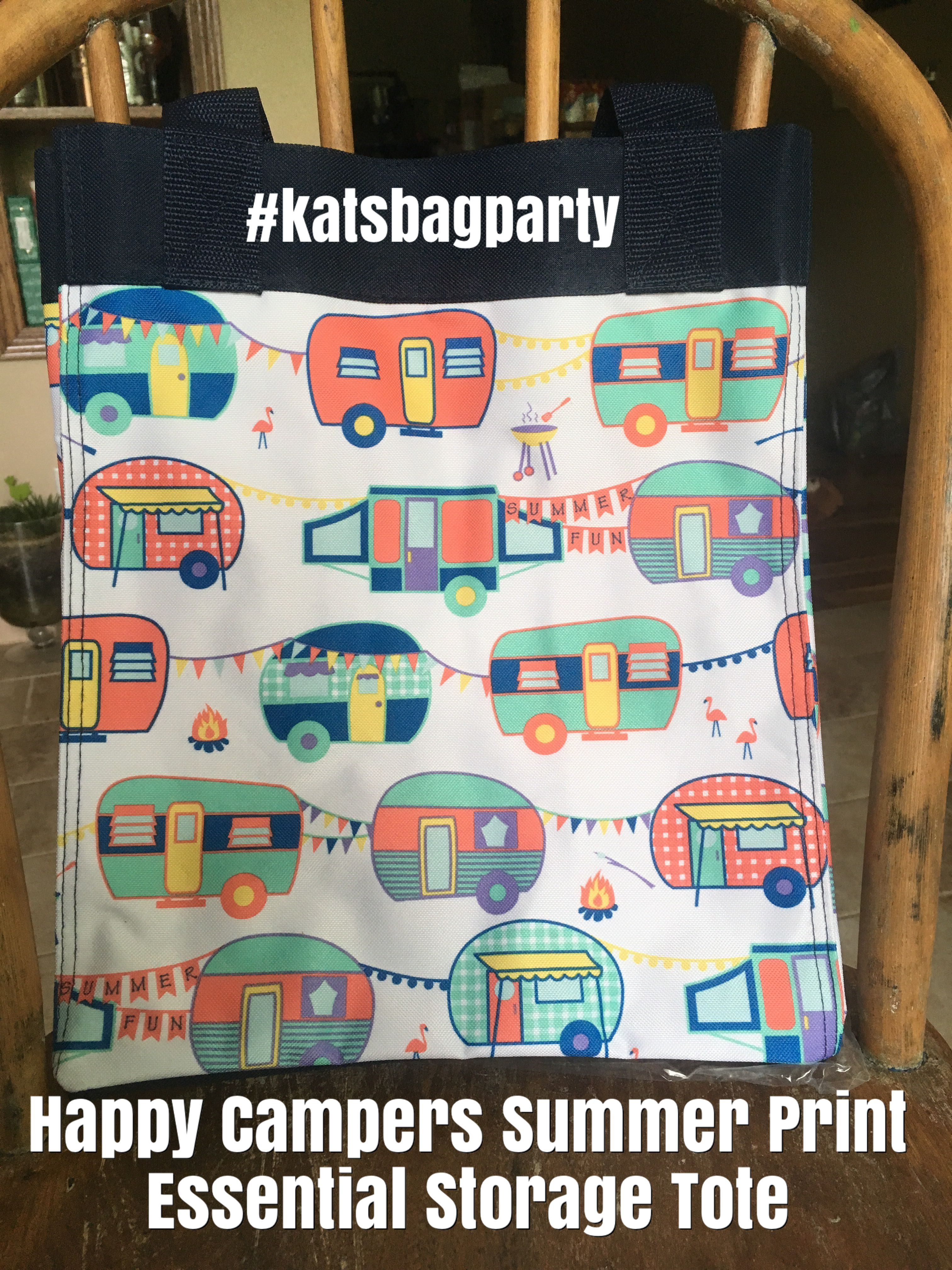 Essential Storage Tote Thirty One Gifts Happy Campers Summer Print Katsbagparty